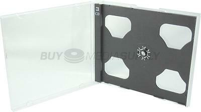10.4mm Standard Black Triple 3 Discs CD Jewel Case - 50 Pack