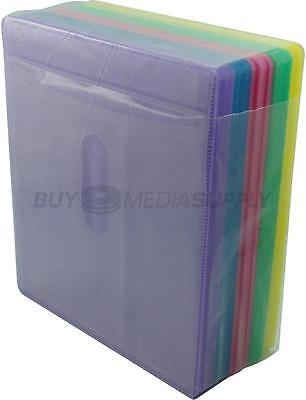 Non woven Multi Color Plastic Sleeve CD/DVD Double-sided - 600 Pack