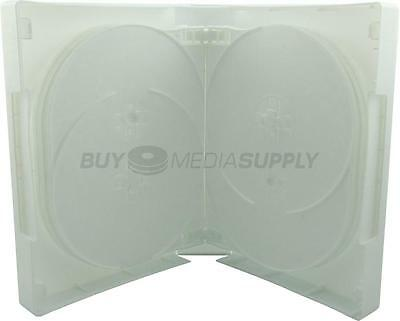 45mm White 14 Discs DVD Case - 10 Pack