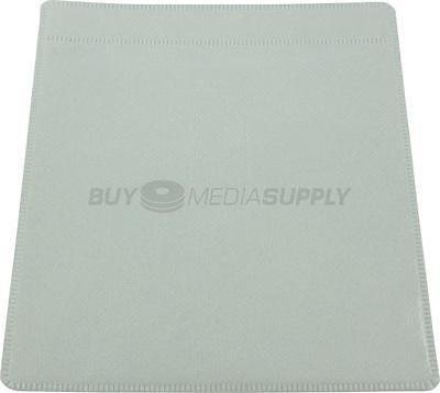 Non woven White Plastic Sleeve CD/DVD Double-sided - 1000 Pack