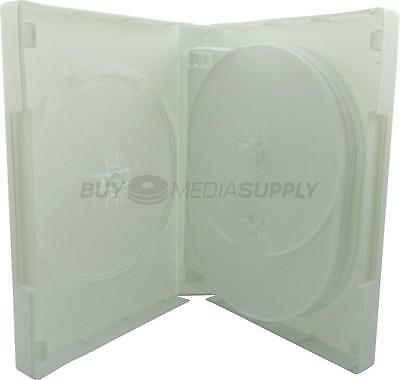 33mm White 10 Discs DVD Case - 30 Pack