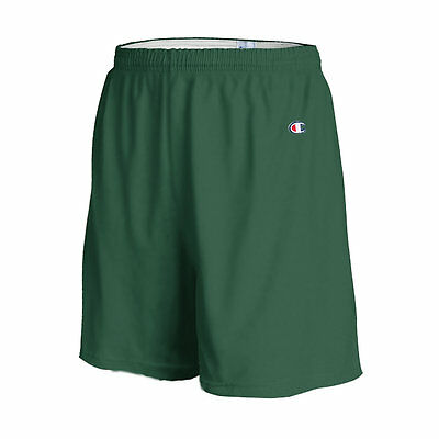 "Champion Men's 6"" Athletic Solid Cotton Gym Workout Shorts w/ Drawstring 8187"