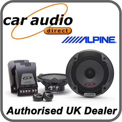 "ALPINE SPG-13CS 5.25"" 13cm Car Audio Component 2Way Speakers Set 250W Tweeters"