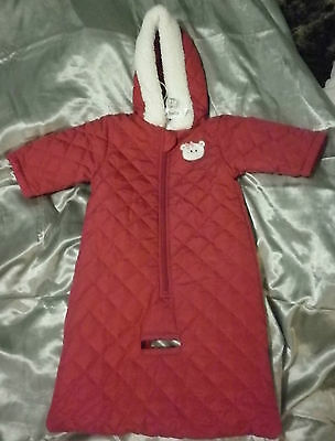 Baby Baby Maroon Quilted Sleeping Bag Bnwt Sz 000 - Free Postage (A35)