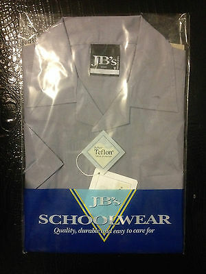 JB's SCHOOL WEAR BOYS FLAT COLLAR SHIRT - GREY SIZE 12  BNIP