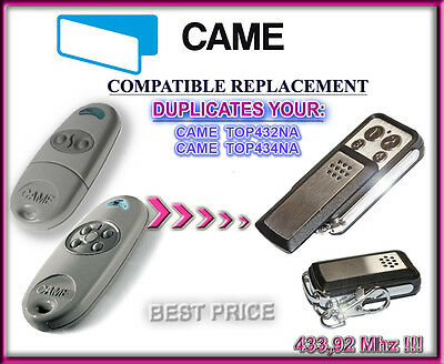 Came TOP432NA / Came TOP434NA compatible télécommande / Cloner 433,92Mhz