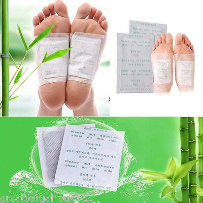 10 x Detox Pad Foot Patches Toxin Remover Cleansing Cleaner Adhesive Sticker UK