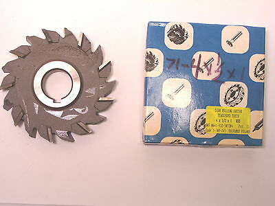 "NOS Dolfamex POLAND HSS Stagg Tooth Side & Face Milling Cutter 4""x1/2""x1"""
