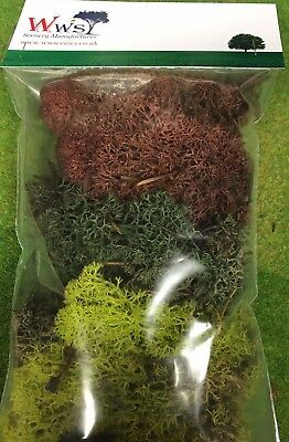 WWS Lichen / Model Moss Various colours, select choice 60g