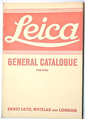 LEICA Camera GENERAL CATALOG FOR 1936 by Leitz Wetzler & London reprint #RB207