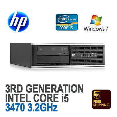 HP Compaq 8300 Elite SFF Desktop PC (Core i5-3470 3.2 GHz, 8 GB, 500 GB, Win 7)