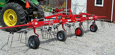 New Enrossi 17 ft Hydraulic Fold Hay Tedder, Pull Type Can ship @ $1.85 Mile