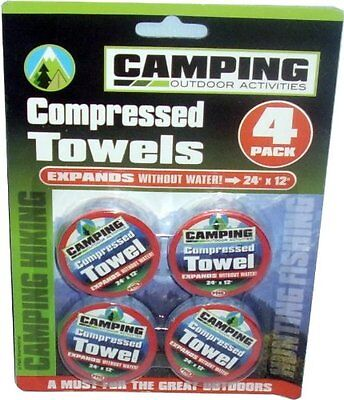 12 Pc Camping Compressed Towels Face Wash Drying Disposable Travel Essential