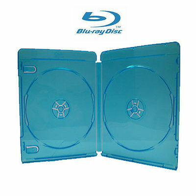 10 NEW PREMIUM Blu-Ray CD / DVD Video Case, DOUBLE (holds 2 Discs), 12mm