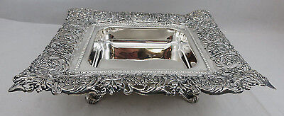 Sterling  Silver 925 Candy Nut Dish Bowl  With Flower Design 452 grams