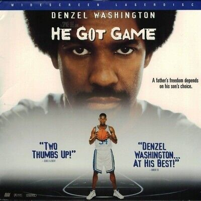 He Got Game Ws Ac3 Cc Clv N&s Ntsc Laserdisc Denzel Washington