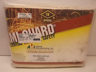 New Auburn Mfr. AS2400-0608 Silica Tan 6 x 8' Welding Curtain (A16)