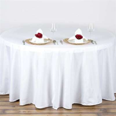5 Pack 120 in. Polyester Seamless Tablecloth~Wedding~NEW
