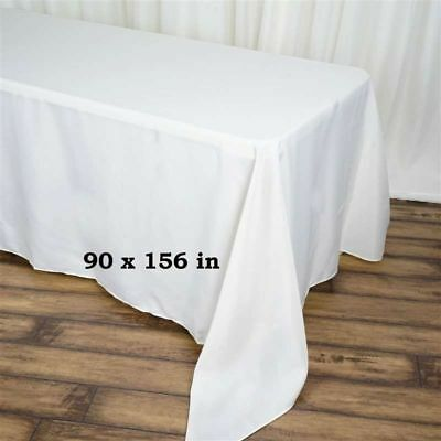 "10 Pack 90""x 156"" Rectangle Linen Tablecloth Great Weddings. Choose Your Color!"