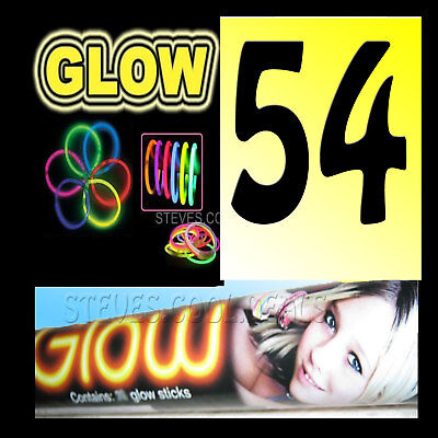 GLOW STICKS BANDS GLOWING Wristbands Bracelets Necklace Hen Stag Party Birthday