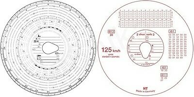 5 x Box of 100 Tacho discs for trucks wagons lorrys - Tachograph charts cards