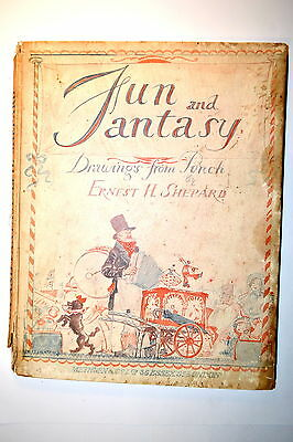FUN & FANTASY DRAWINGS FROM PUNCH Book by Shepard 1927 #RB153 RARE COLLECTIBLE
