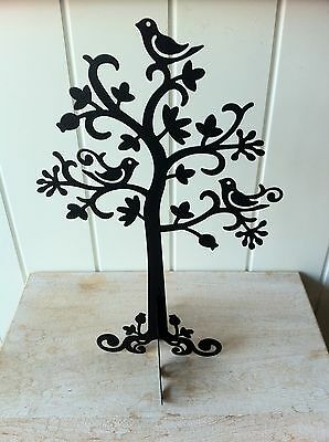 Large Chic Jewellery Display Tree Stand Black Metal By Sass & Belle