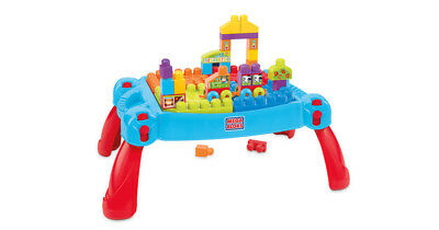 Mega Bloks First Builders 75 Piece Play Set Build'n Learn Table New