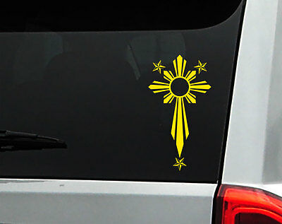 Philippine vinyl car decal sticker 7 height with filipino sun stars