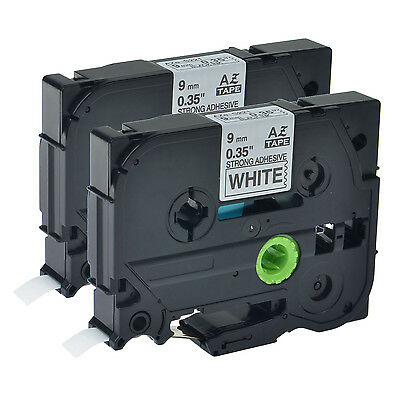 2 Pack Black on White Label Tape For Brother TZ-S221 TZe-S221 PT-P700 Printer