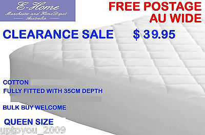 Fully Fitted Quilted Mattress Protector Queen Bed