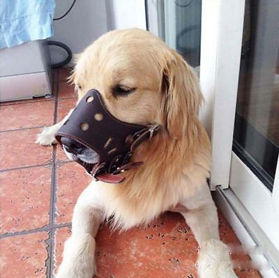 PU Leather Dog Muzzle No Bite No Barking Dog Training Mask For Dogs