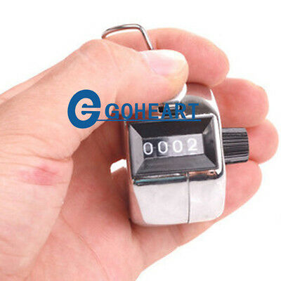 New 4-Digit Number Golf Handy Clicker Mechanical Hand Tally Counter Counting