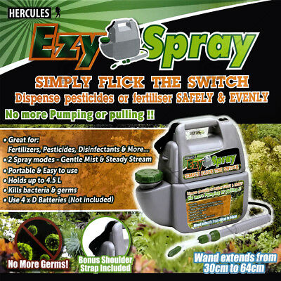 4.5L Ezy Spray Battery Operated 2 spray modes Garden Water  No more pumping