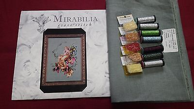 New Mirabilia Woodland Fairie MD67 Chart with Fabric and beads and Kreiniks.