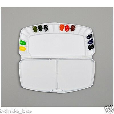 MIJELLO Fusion 20 Folding Watercolour Palette Art Painting (BLACK) MWP-3020
