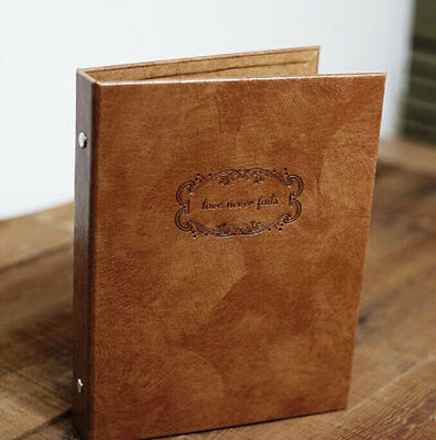 personalized Leather Photo Album DIY Scrapbook love story Book Wedding Guestbook