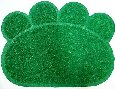 Green Cats Dogs Paw Print Litter Tray Mat Cat Dog Pet Pets Toilet Tidy Clean UK