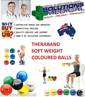 Theraband Soft Weight Coloured Balls Weighted Fitness Training Yoga Pilates