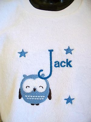 PERSONALISED BABY BIB  ANY NAME GREAT GIFT New Baby/ Twins/ Christening/Name Day