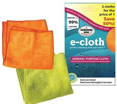 e-cloth General Purpose Cleaning Cloth Fiber Washable Reusable Pack of 2 Cloths