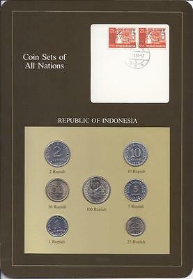Coin Sets of All Nations - Indonesia, 7 coin brown set