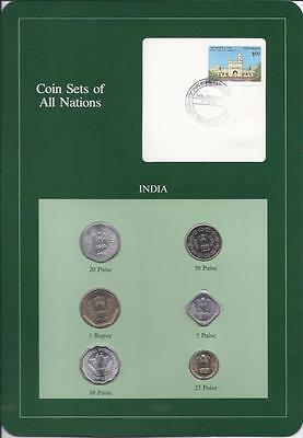 Coin Sets of All Nations - India, Green Card