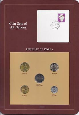 Coin Sets of All Nations - Korea, 5 coin brown set