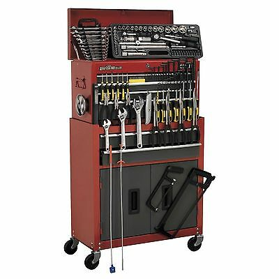 Sealey Topchest & Rollcab Combo 6 Drawer with Ball Bearing Runners & 128 Tools