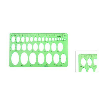 """New Clear Green 8.7"""" x 5.2"""" Educational Stationery Template Oval Ruler Guide SP"""