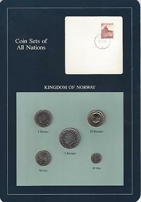 Coin Sets of All Nations ,Norway, Blue Card