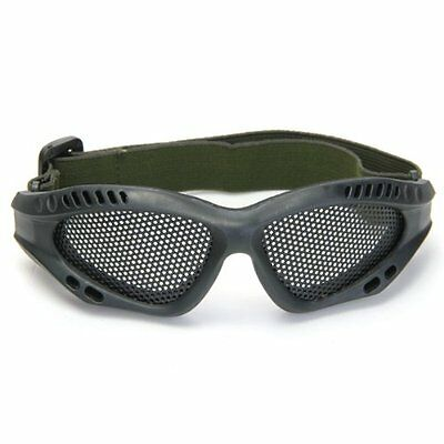 Shooting Tactical Airsoft Hunting Sand Metal Mesh Goggles Glasses Black SP