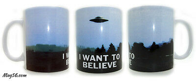 Mug X FILES #08 i want to believe ovnis extra terrestres tasse personnalisable