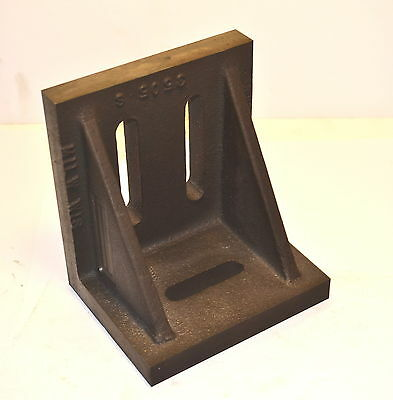 """NOS BUSCH Rough Machined Slotted Angle Plate 5"""" x 4""""x 5.5"""" Hand Scraping Project"""